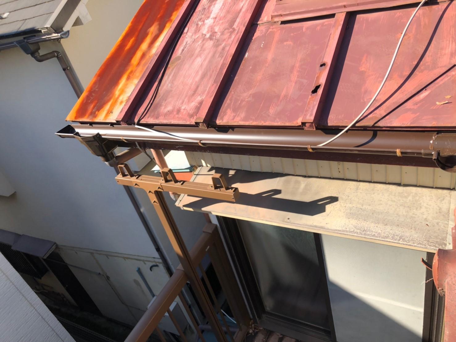【施工完了報告!】雨どいの修理はハートホームにお任せください!東京都中野区にて施工完了!