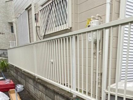 東京都板橋区にてフェンスの設置工事!