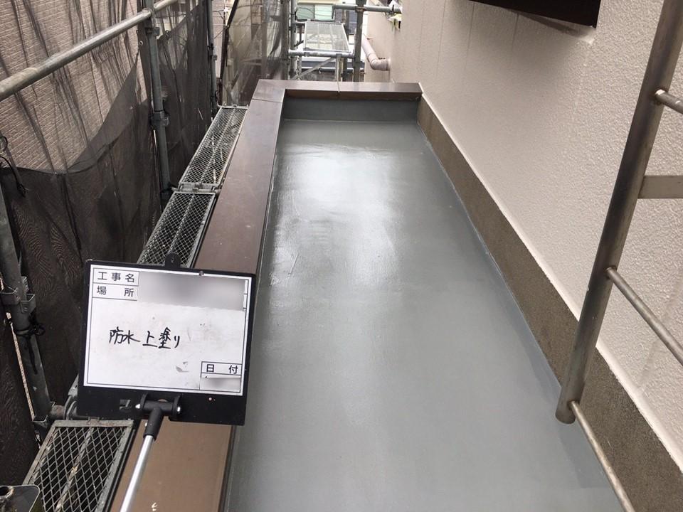 千葉県市川市のアパートにてベランダ塗装工事を行いました!