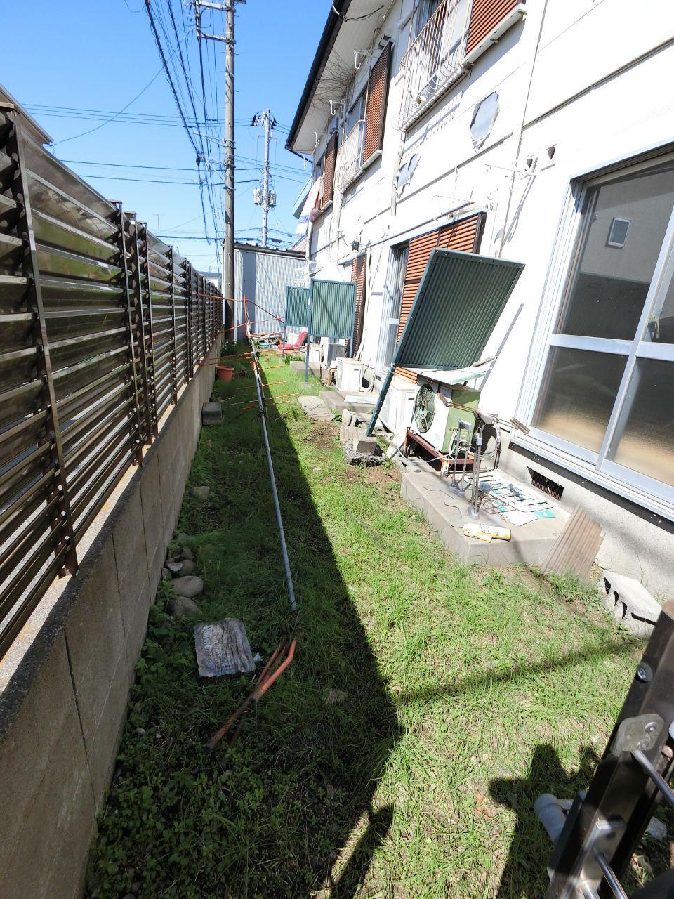 西多摩郡アパート 外構フェンス 雨樋修理交換工事