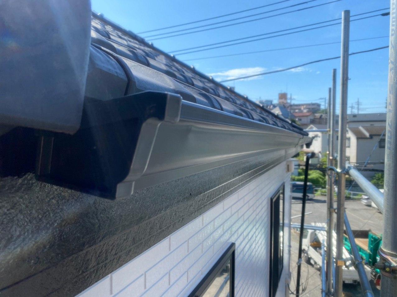 川崎市宮前区で雨樋交換修理 目地補修 外壁塗装