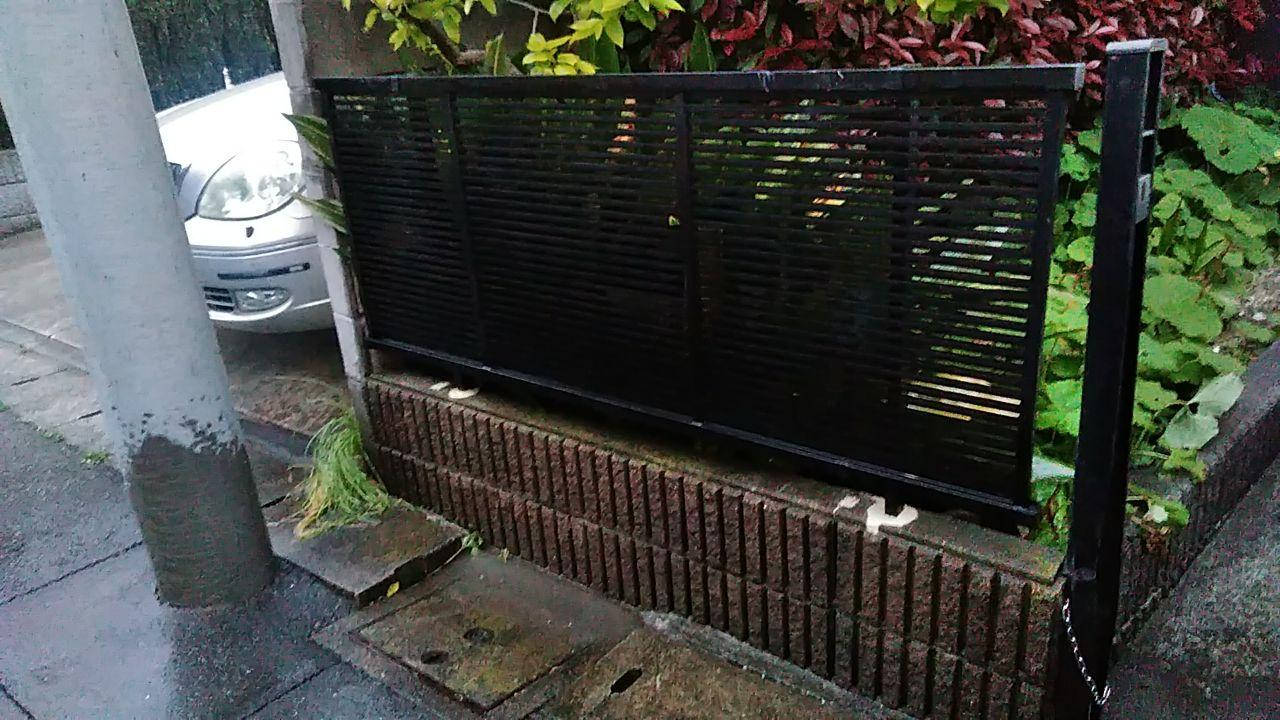 相模原市緑区 雨樋交換&境界フェンス設置