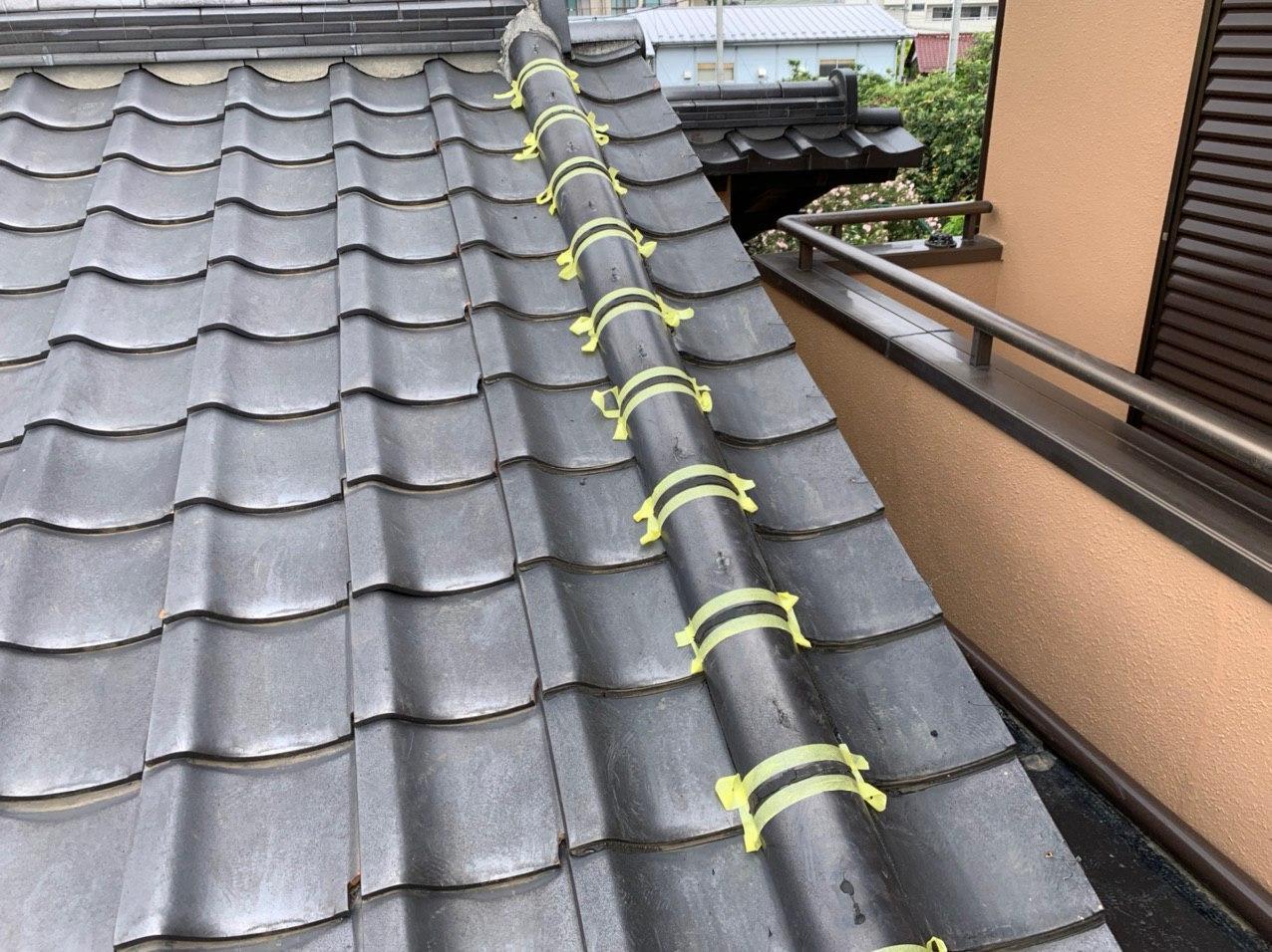 野田市 屋根コーキング 付帯部塗装を完工!