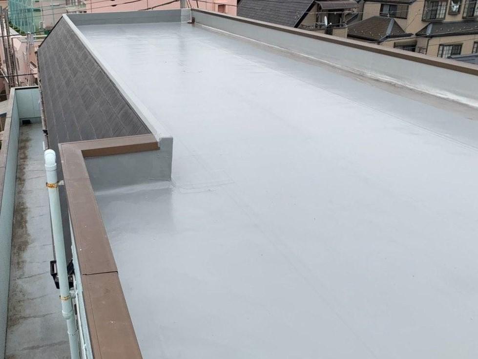 西東京市のアパート 屋上&外壁塗装を完工!