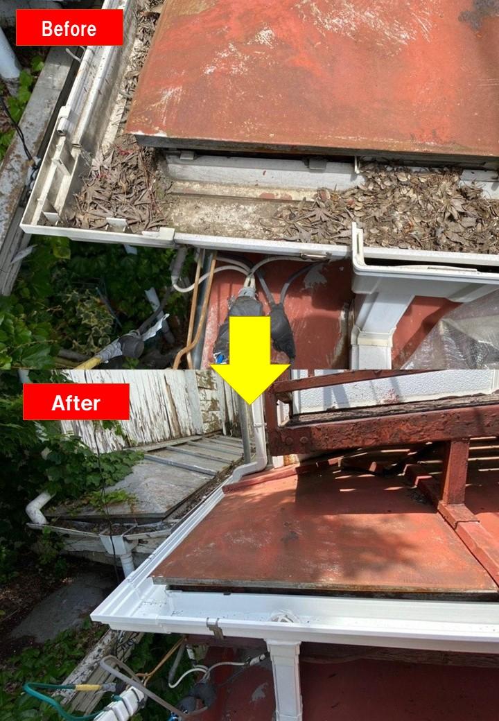 東大和市 雨樋交換 集水桝塗装