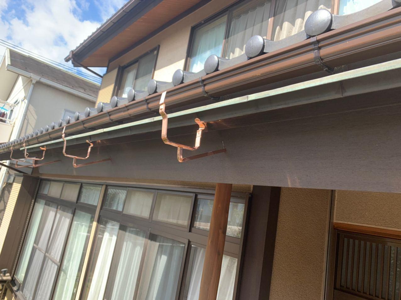 東京都立川市で銅板雨樋の交換修理工事
