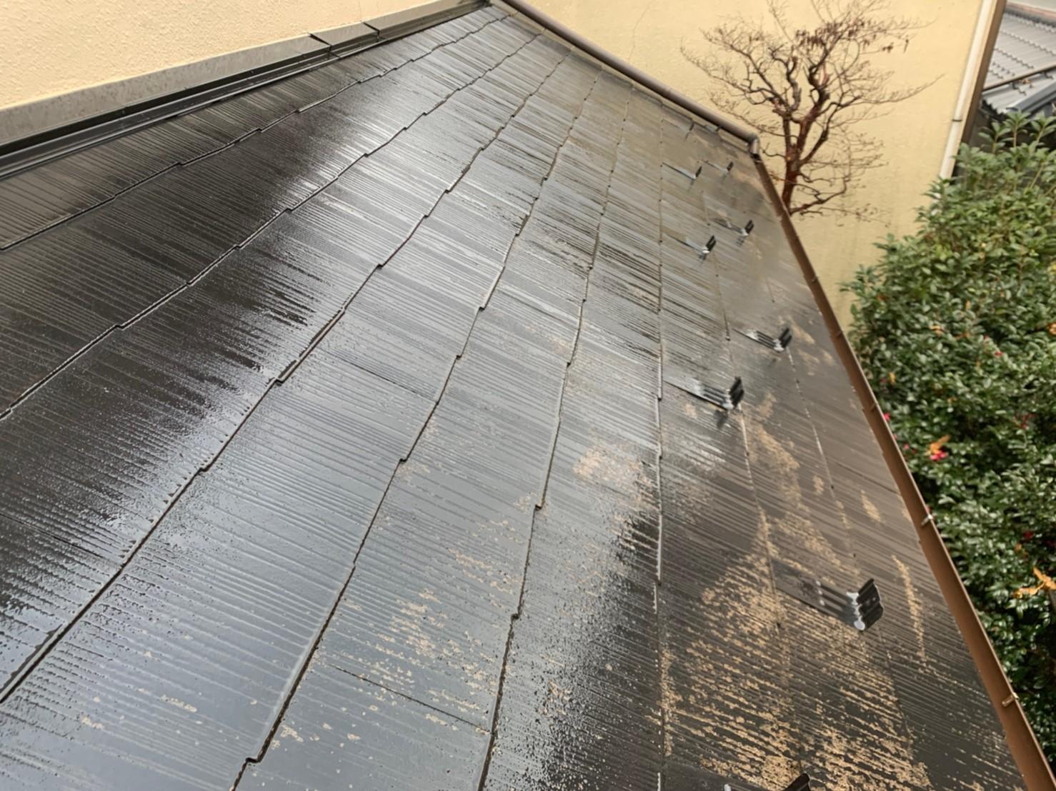 東京都荒川区にて屋根塗装・雨樋交換工事