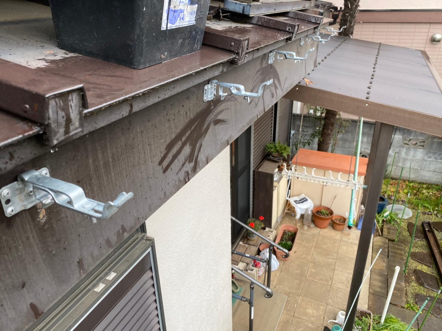 東京都あきる野市にて雨樋交換工事