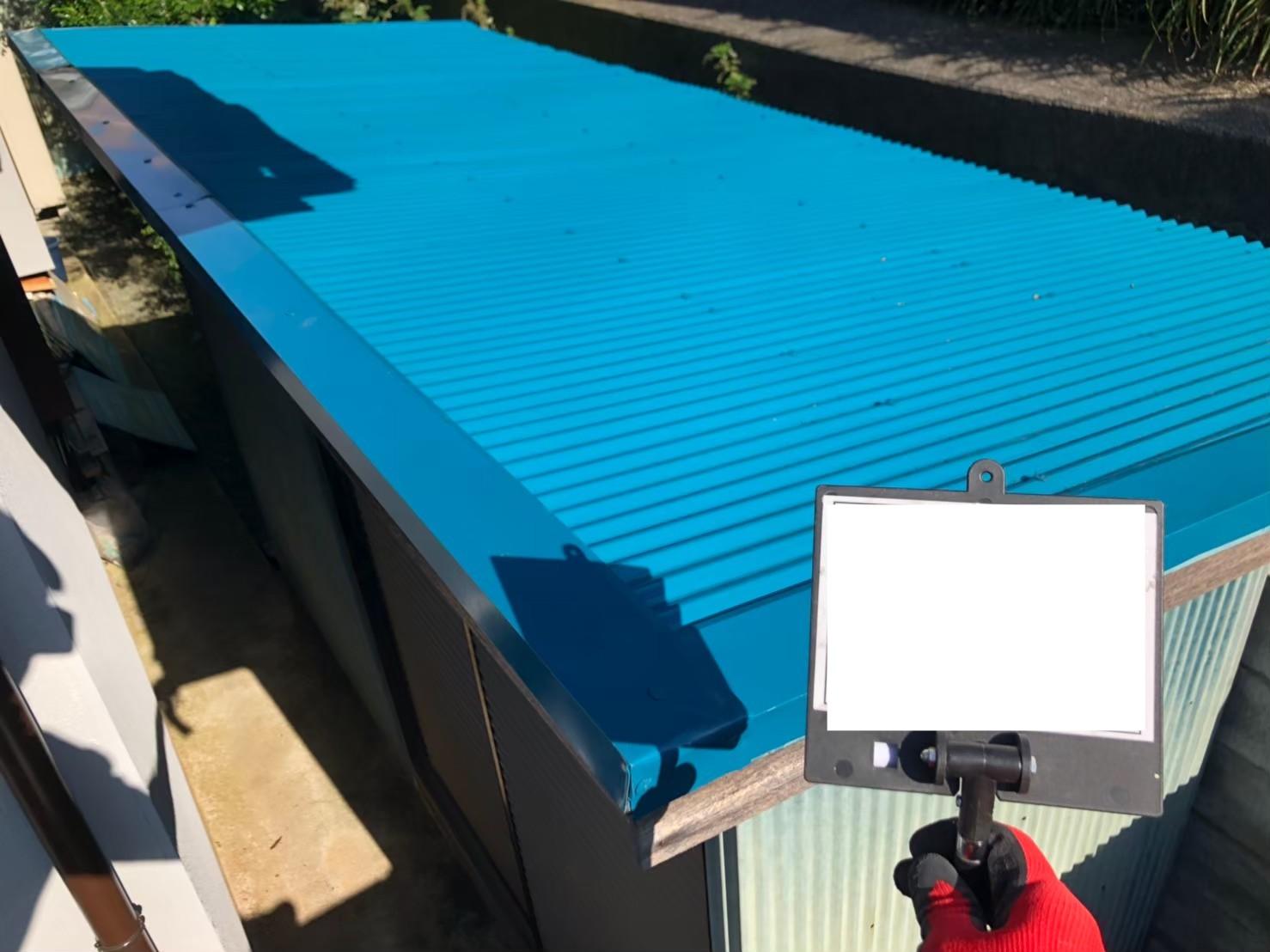 神奈川県川崎市にて雨樋 トタン屋根塗装工事