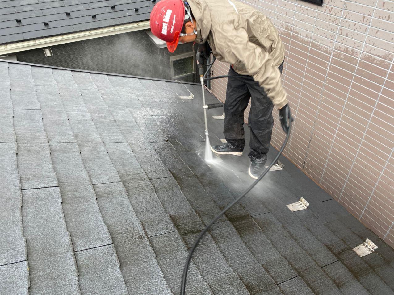 足立区にて屋根塗装工事