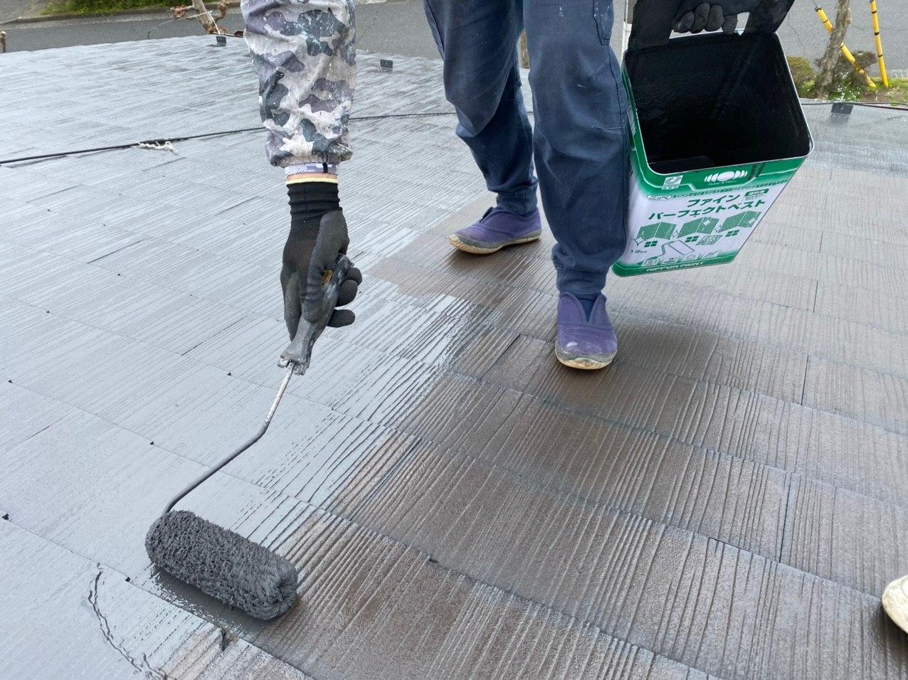 横浜市港北区にて屋根塗装工事