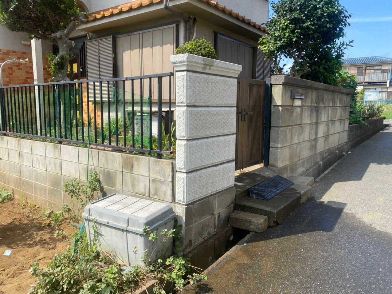 東京都西東京市で化粧ブロック解体新設工事