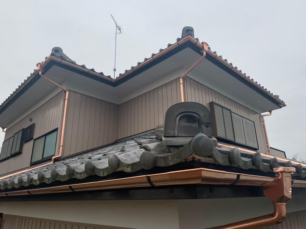 埼玉県戸田市で銅板雨樋交換工事