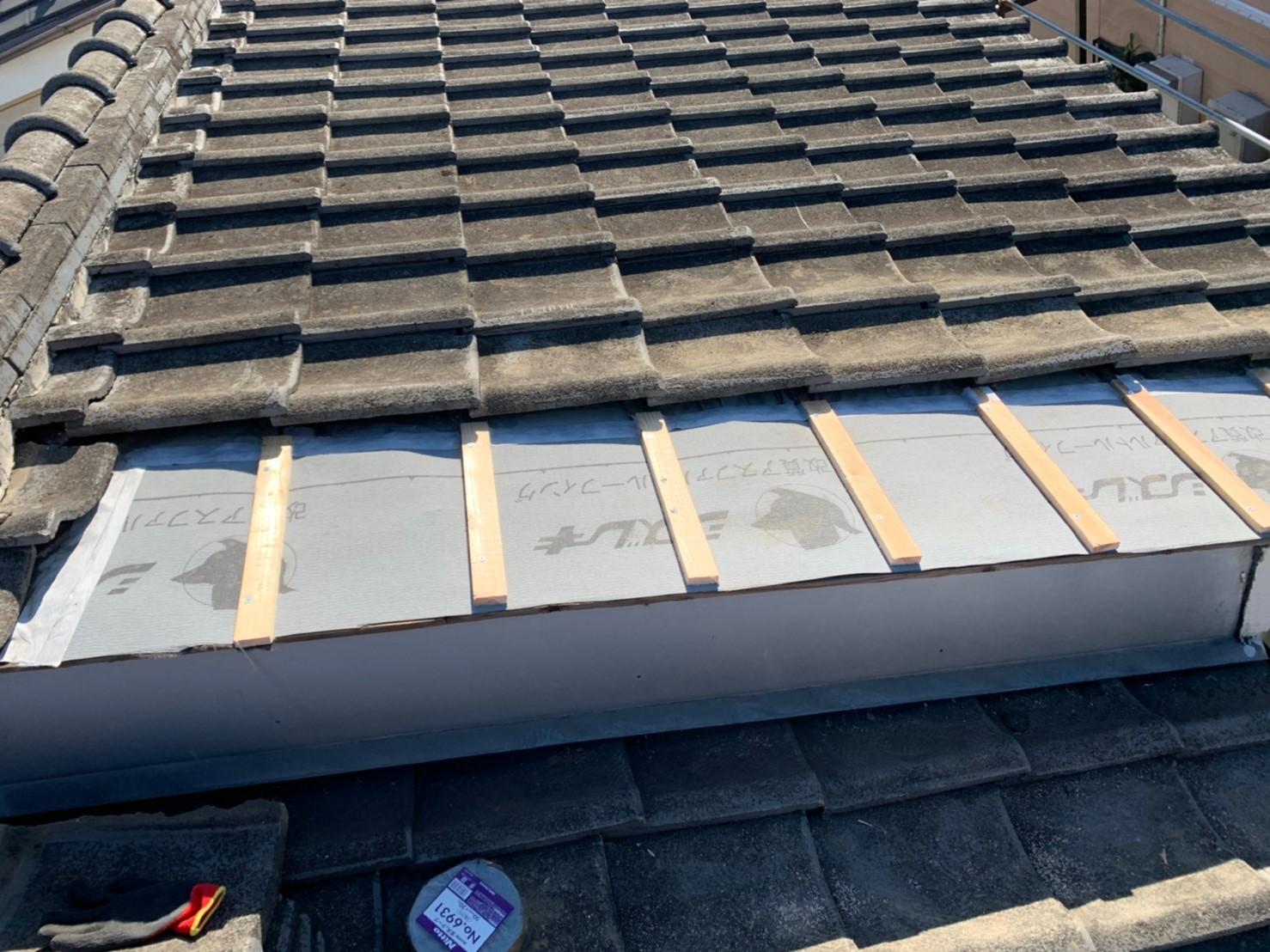 東京都北区にて屋根葺き直し工事