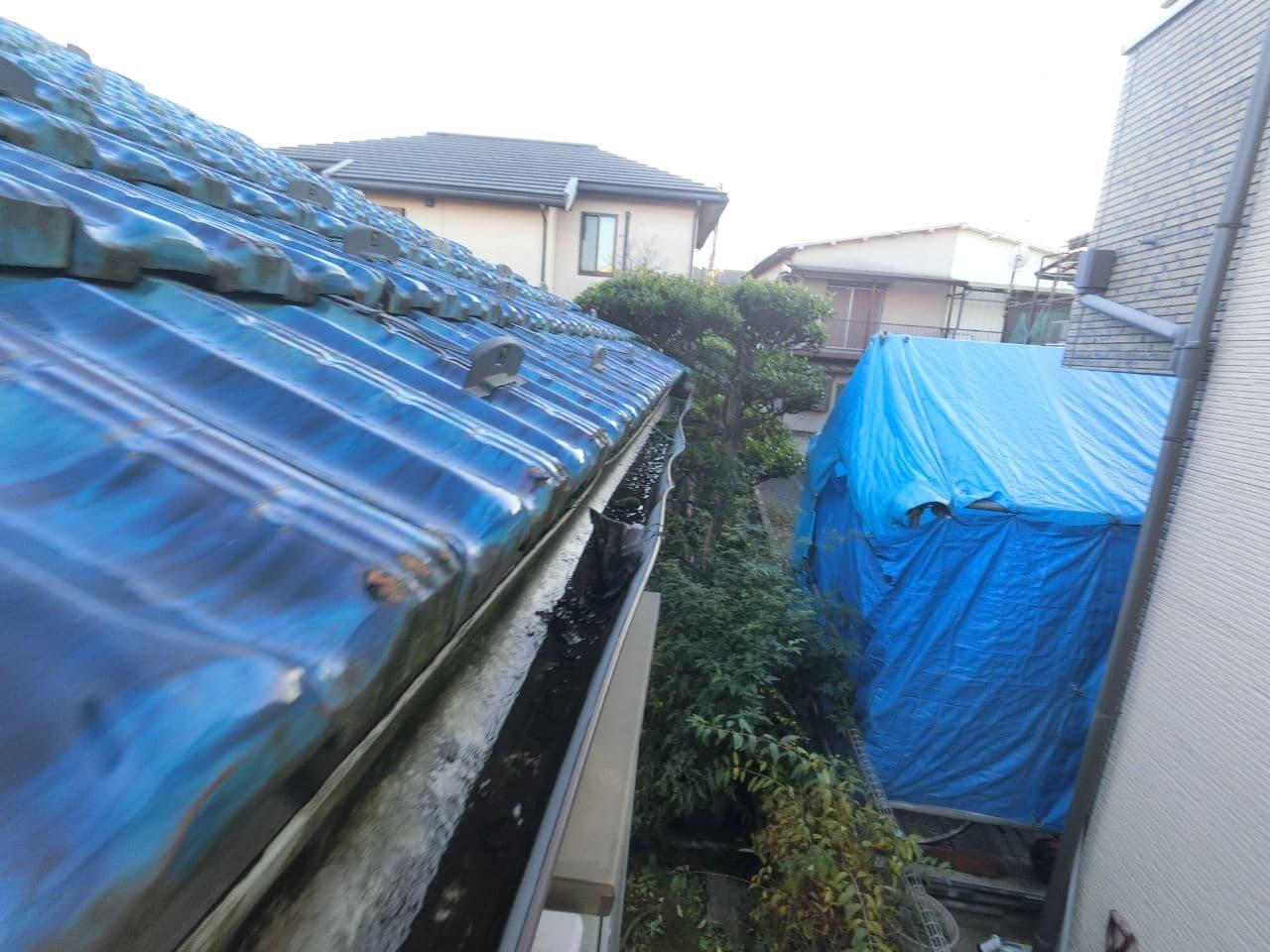 川越市にて戸袋や雨樋の災害調査を実施