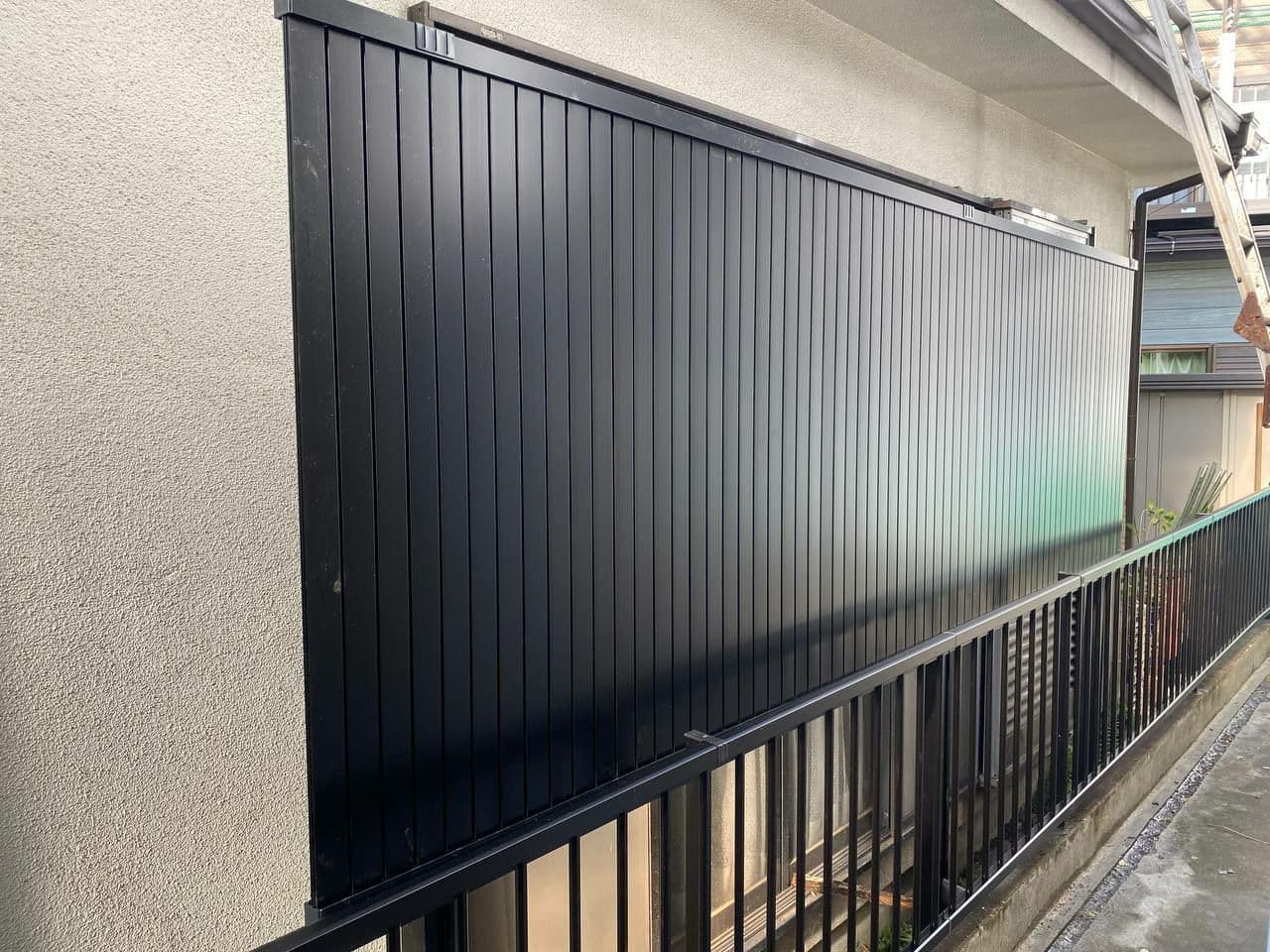 境界フェンス外構工事 横浜市港北区