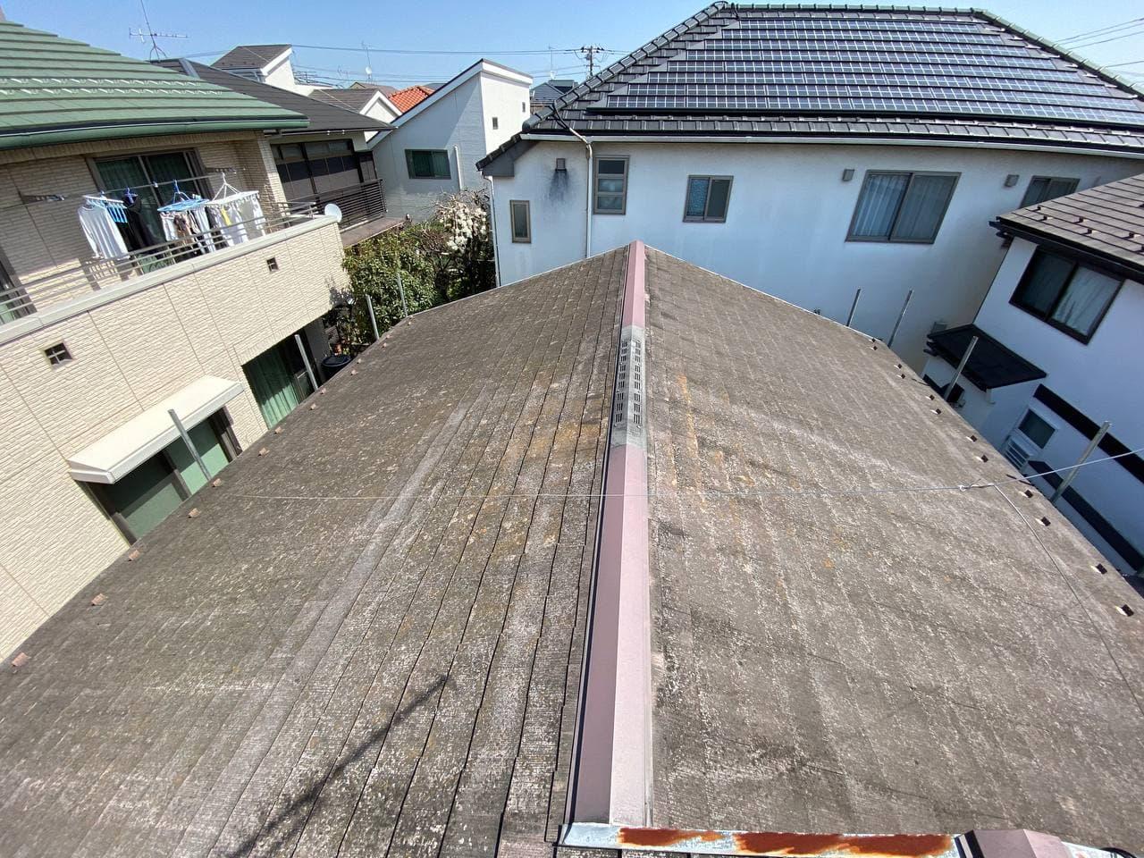 新宿区にてハートホーム屋根塗装工事