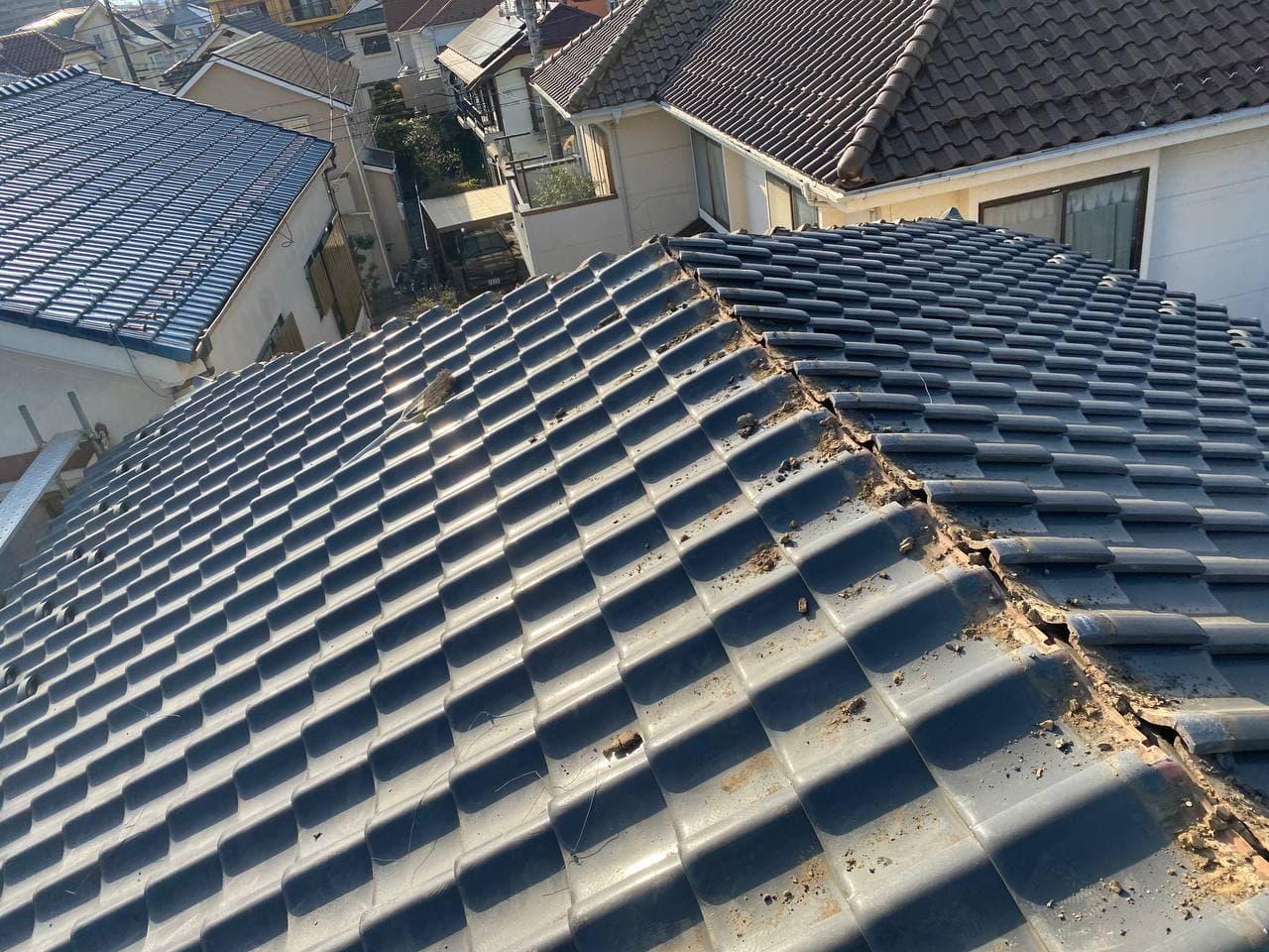 武蔵野市にて屋根葺き替え工事