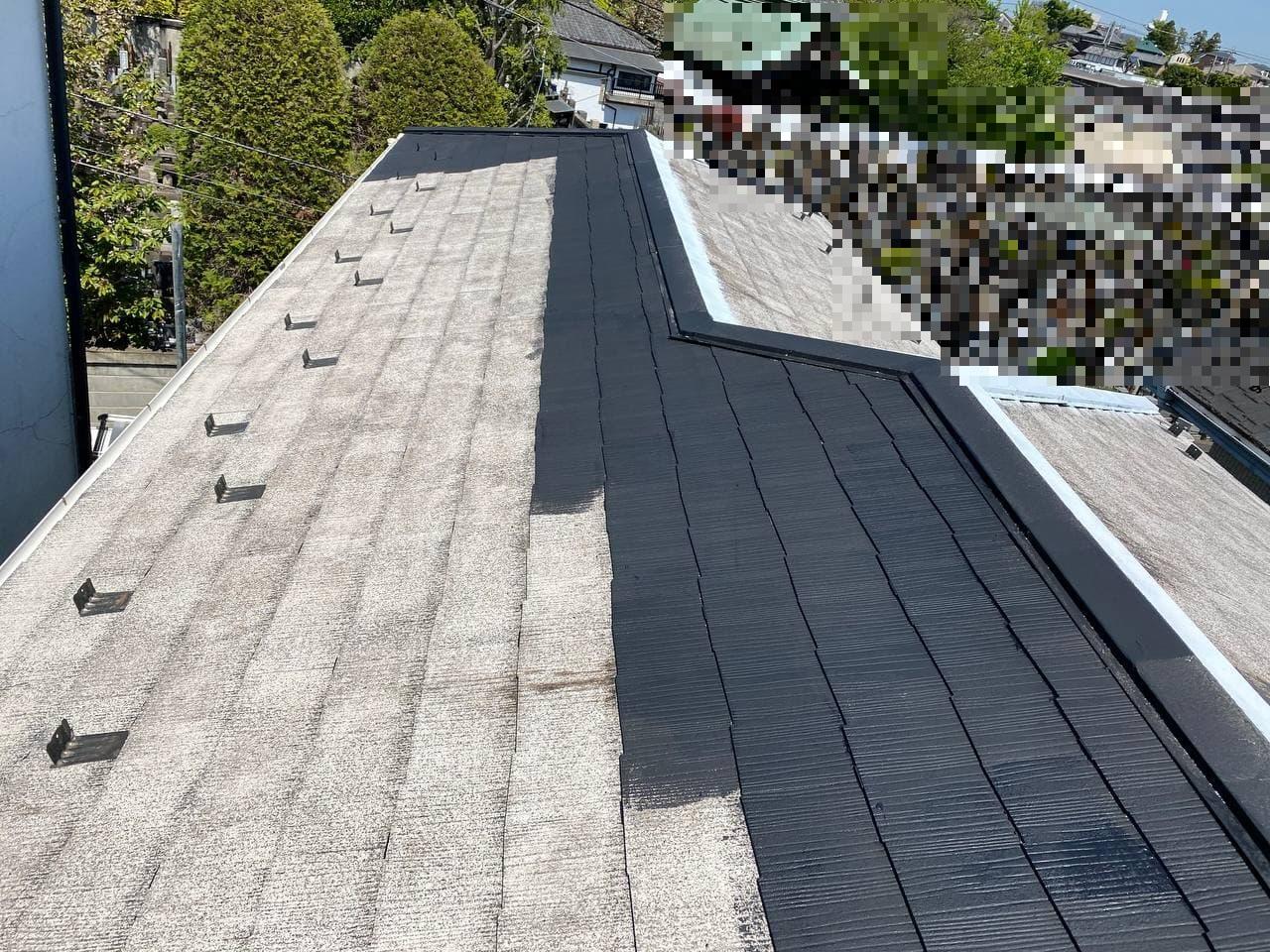 東京都荒川区にて大屋根下屋根塗装工事