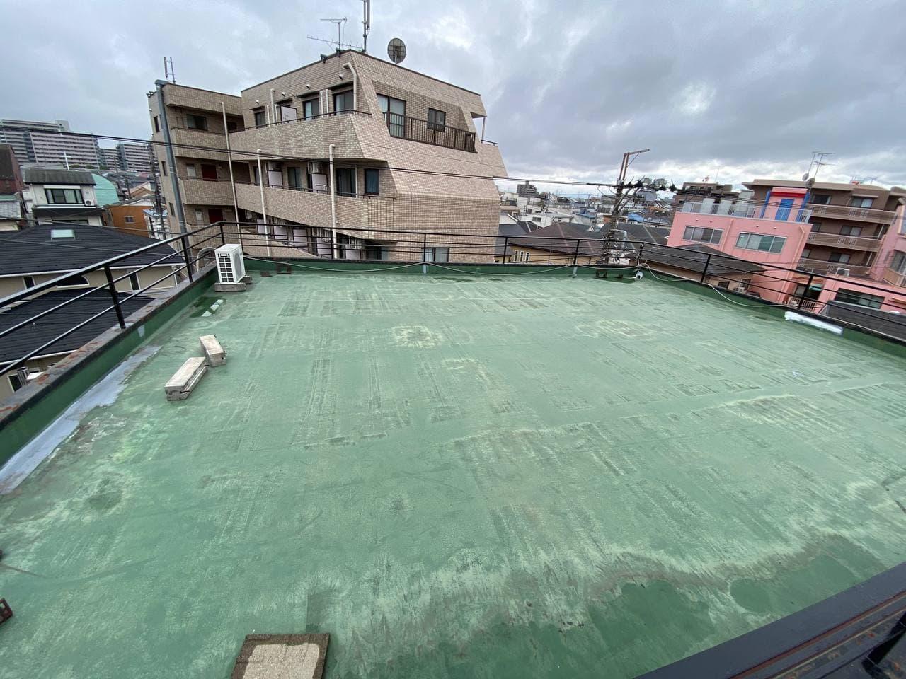 東京都世田谷区にて屋上防水及び笠木交換工事