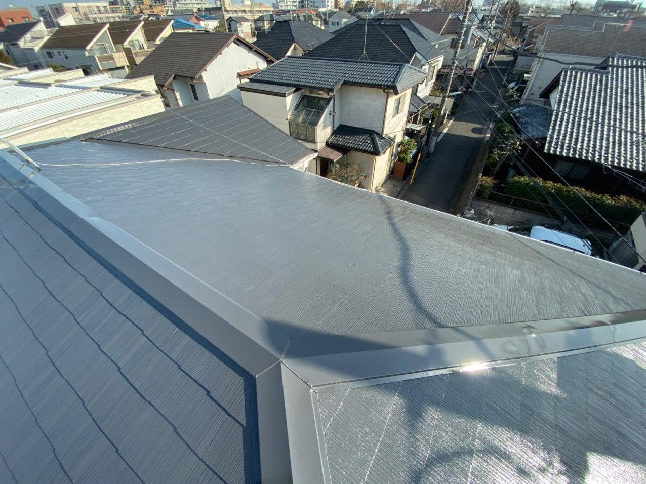 船橋市にて棟板金交換及び屋根塗装工事