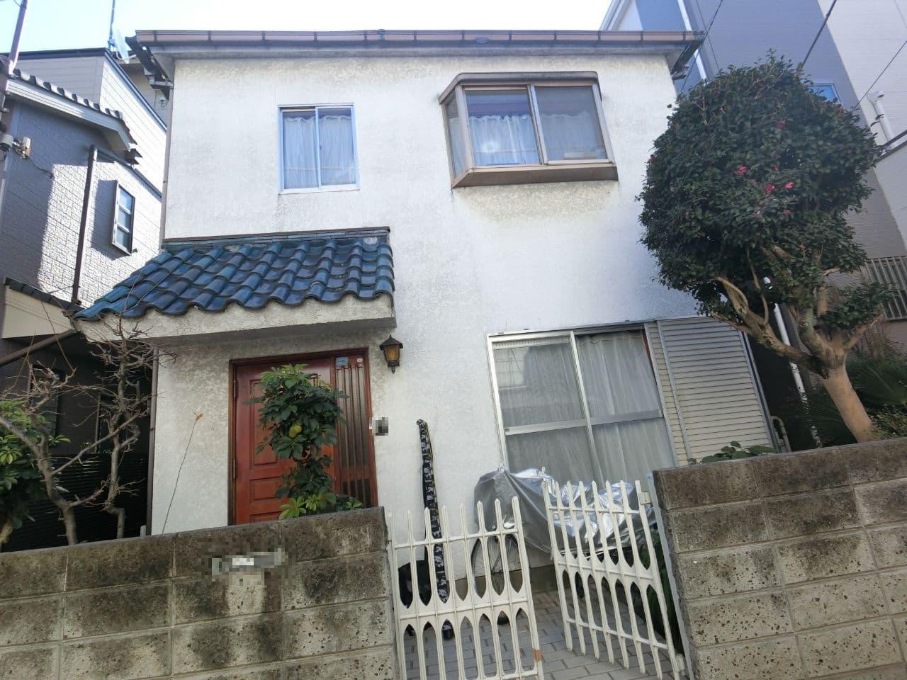 東京都杉並区にて外壁塗装と屋根重ね葺き工事