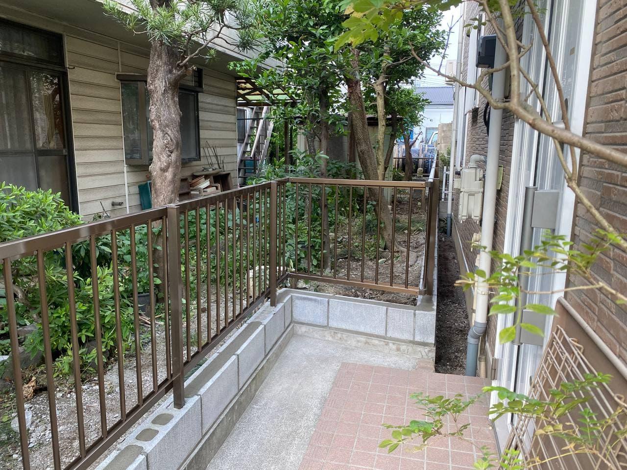 東京都調布市でブロック解体フェンス新設工事