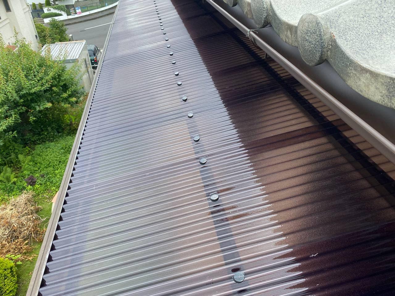 墨田区にて雨樋波板交換及び外壁塗装工事