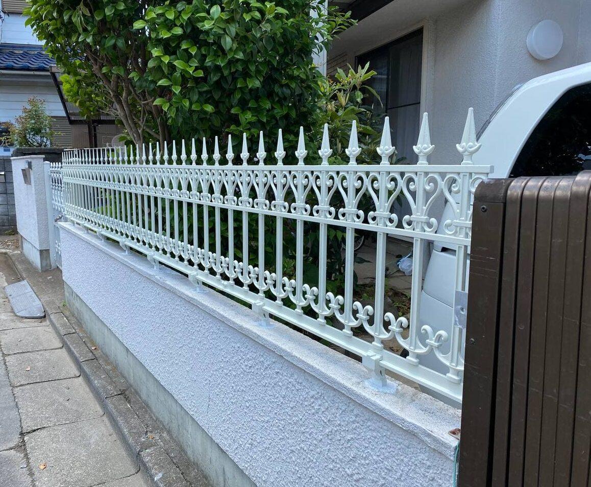 東京都中野区にて境界フェンス撤去新設工事