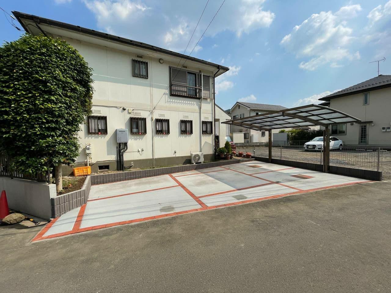 埼玉県所沢市で駐車場カーポート新設工事