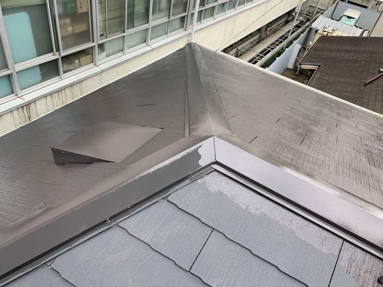 東京都目黒区で屋根瓦補修塗装工事