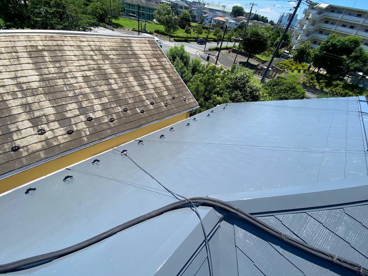 東京都江戸川区にて屋根塗装工事