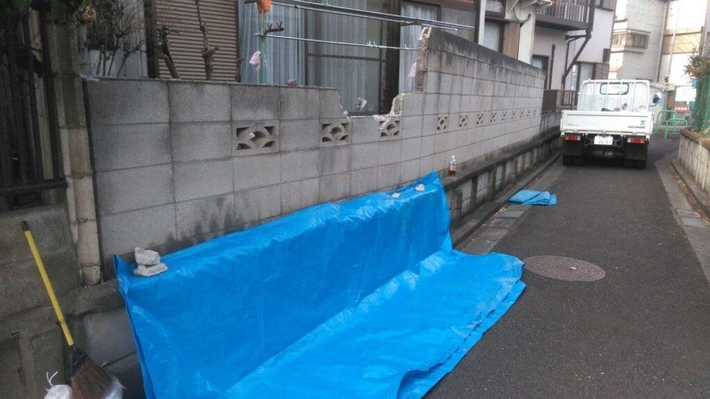 松戸市でブロック解体境界フェンス新設工事