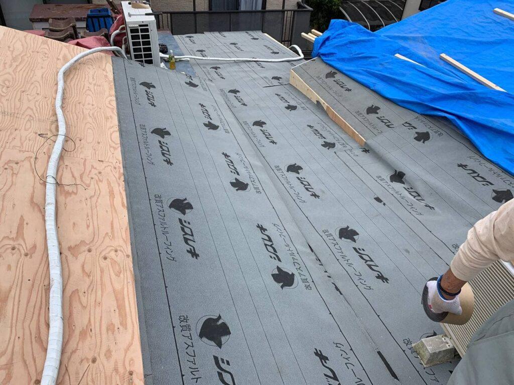 雨漏れ対策!埼玉県新座市で屋根葺き替え工事