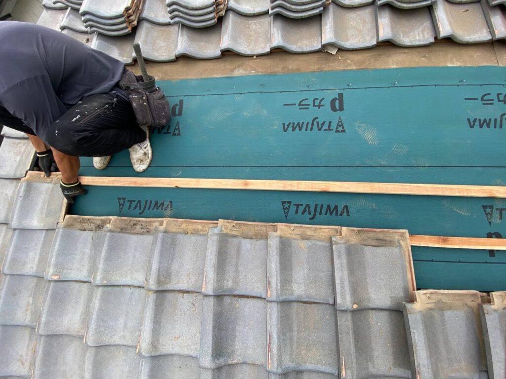 東京都昭島市で雨漏れ屋根葺き直し工事