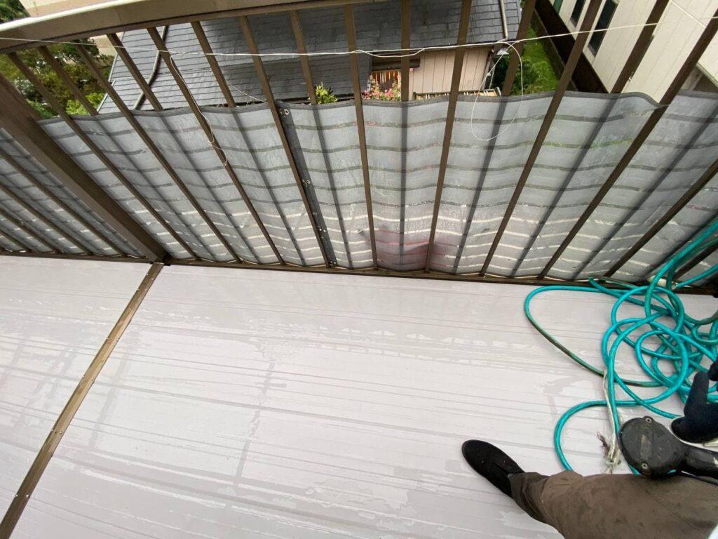 東京都国分寺市でベランダ補修外壁塗装工事