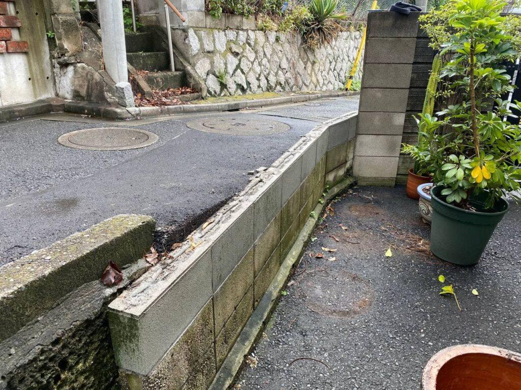 大田区でブロック境界フェンス解体新設工事