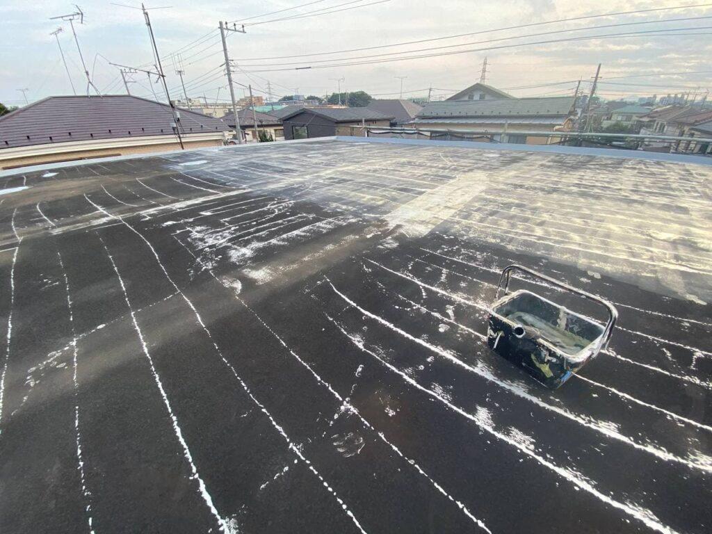 川崎市多摩区で屋上防水塗装及び外壁塗装